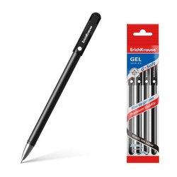 Ручка гелевая ErichKrause® G-Soft, цвет чернил черный (в пакете по 4 шт.) 47278