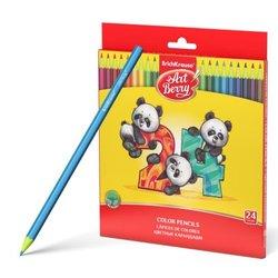 Пластиковые цветные карандаши шестигранные ArtBerry® 24 цветов 47347