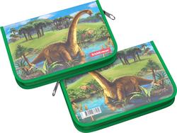 Пластиковый пенал-книжка без наполнения ErichKrause® 135x205x30мм Dinosaurs 47358