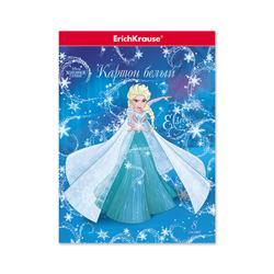 Белый картон ErichKrause® Холодное сердце. Эльза и волшебство Северного сияния, А4, 8 листов, 47406