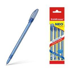 Ручка шариковая ErichKrause® Neo® Original, цвет чернил синий (в пакете по 4 шт.) 47634