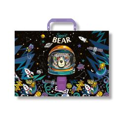 Портфель пластиковый ErichKrause® Space Bear, A4 47867