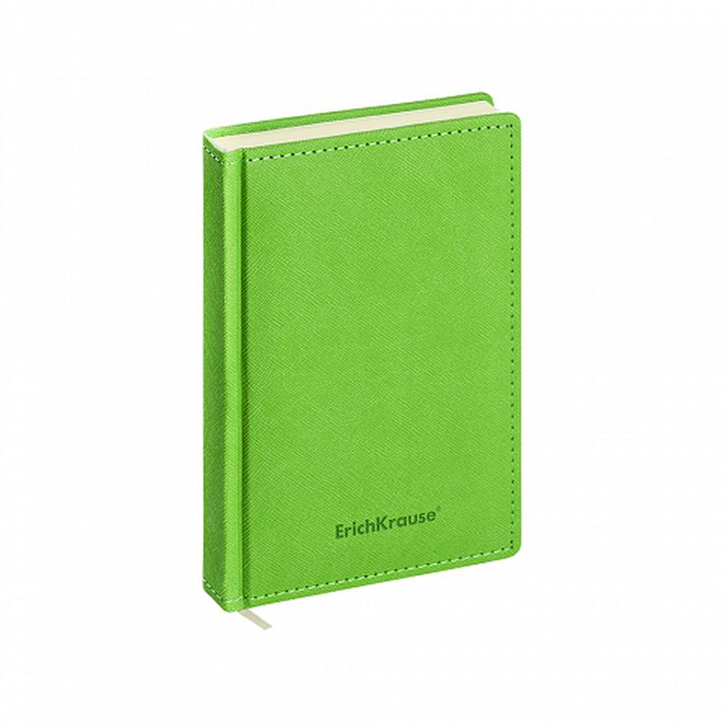 Ежедневник А6+ недатированный ErichKrause® Silhouette, цвет: зеленый, тонированная бумага 47935
