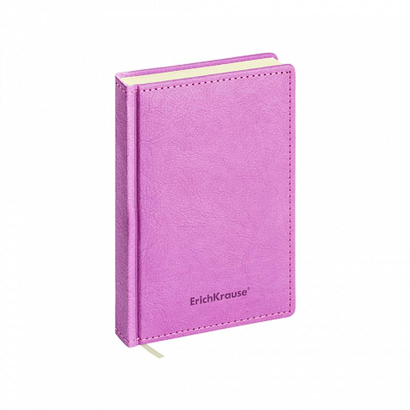 Ежедневник А6+ недатированный ErichKrause® Corolla, цвет: лиловый, тонированная бумага 47939