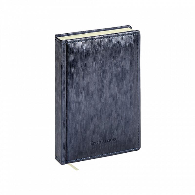 Ежедневник А6+ недатированный ErichKrause® Eclisse, цвет: темно-синий металлик, тонированная бумага 47941