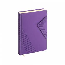 Ежедневник А6+ недатированный ErichKrause® Soft Touch, цвет: фиолетовый, на магните, тонированная бумага 47942