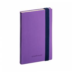 Ежедневник А5- недатированный ErichKrause® Soft Touch, цвет: фиолетовый, на резинке, тонированная бумага 47949