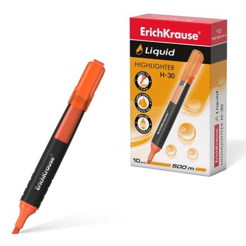 Текстмаркер ErichKrause® Liquid H-30, цвет чернил оранжевый 47976
