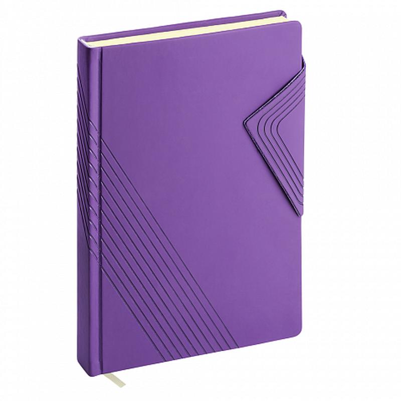 Ежедневник А5 недатированный ErichKrause® Soft Touch, цвет: фиолетовый, на магните, 336 стр, тонированная бумага 47991