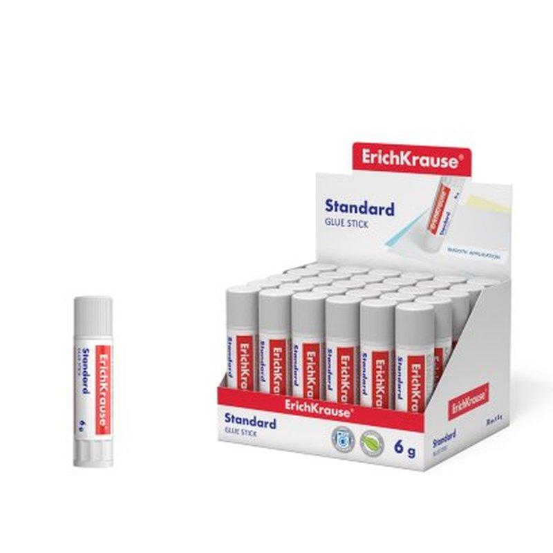 Клей-карандаш ErichKrause® Standard, 6г (в коробке-дисплее по 30 шт.) 48029