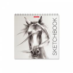 Альбом для эскизов на спирали ErichKrause® Wild Horse, 220х220 мм, 40 листов 48037