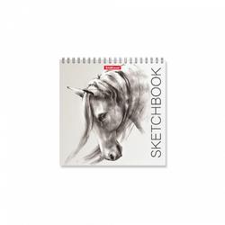 Альбом для эскизов на спирали ErichKrause® Wild Horse, 170х170 мм, 40 листов 48038