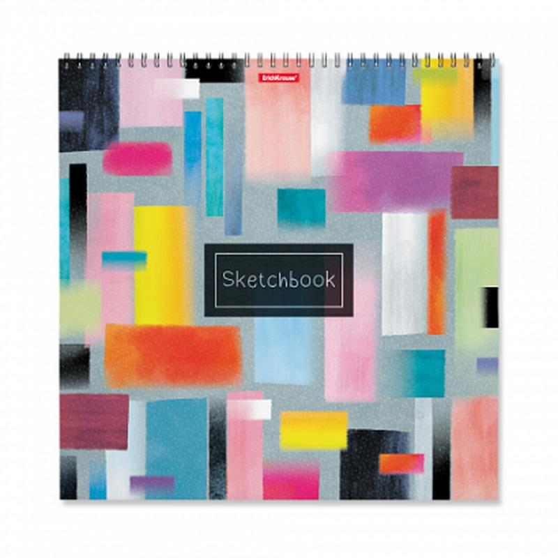 Альбом для эскизов на спирали ErichKrause® Абстракция, 297x297 мм, 40 листов 48042