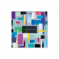 Альбом для эскизов на спирали ErichKrause® Абстракция, 220х220 мм, 40 листов 48043