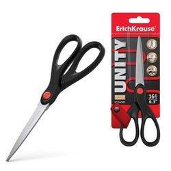 Ножницы ErichKrause® Unity, 16см, черный (в блистере по 1 шт.) 48156