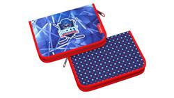 Пенал-книжка без наполнения ErichKrause® 135x205x30мм Hockey 48250