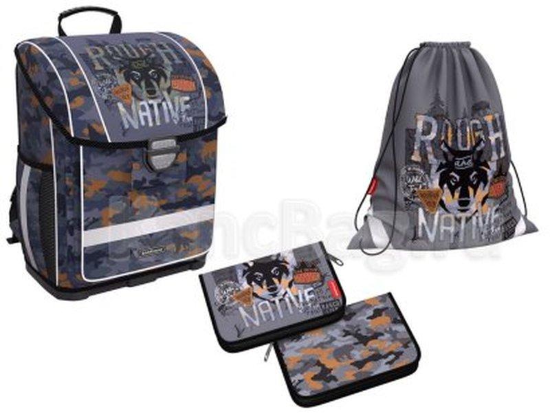 Ученический ранец с пластиковым дном ErichKrause® ErgoLine® 16L Rough Native с наполнением 48336/1