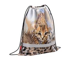 Мешок для обуви ErichKrause® с вентиляцией 500х410мм Wild Cat 48437