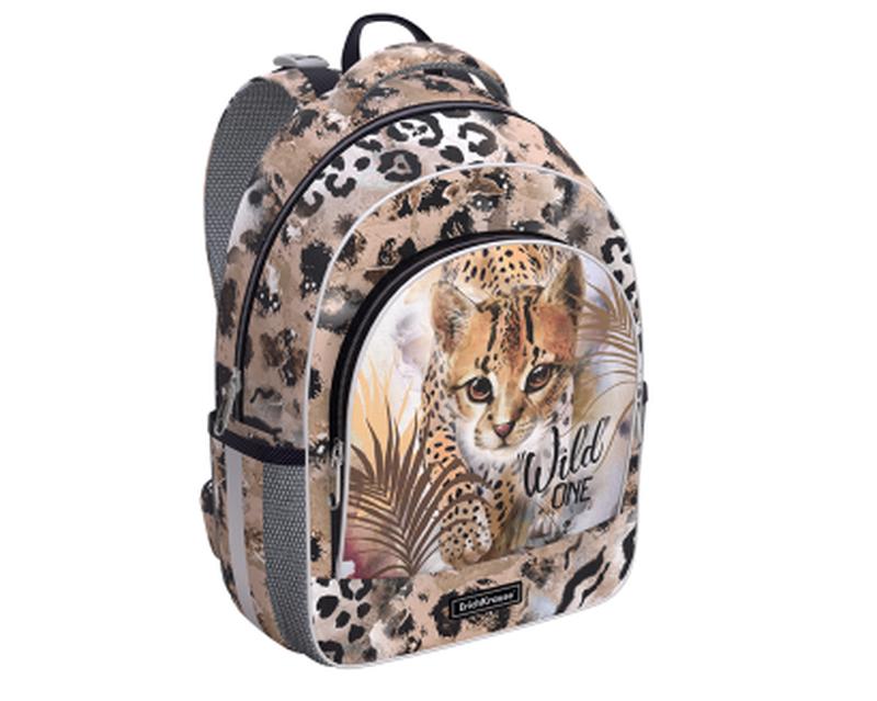Ученический рюкзак ErichKrause® ErgoLine® 15L Wild Cat 48459