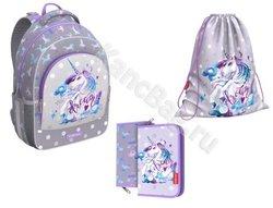 Ученический рюкзак ErichKrause® ErgoLine® 15L Dream Unicorn с наполнением 48501/1