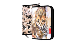 Пенал-книжка без наполнения ErichKrause® 135x205x30мм Wild Cat 48505