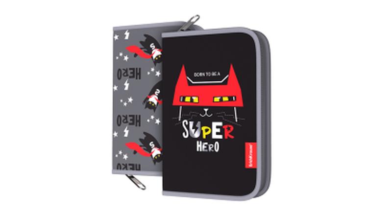 Пенал-книжка без наполнения ErichKrause® 135x205x30мм Super Hero 48529