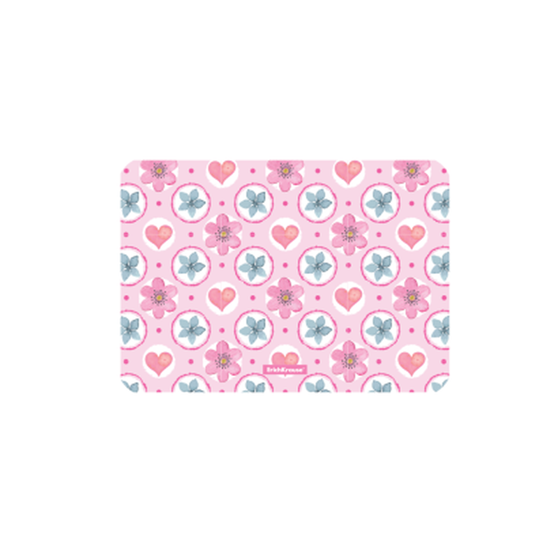Подкладка настольная пластиковая ErichKrause® Pink Flowers, А4 (в пакете по 12 шт.) 48599