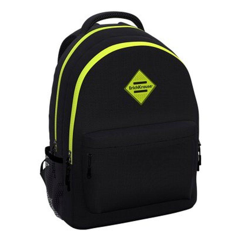 Ученический рюкзак ErichKrause® EasyLine® с двумя отделениями 20L Black&Yellow 48610