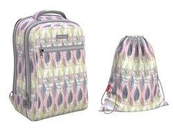Ученический рюкзак ErichKrause® ErgoLine® Urban 18L Flora  с наполнением 48669/1