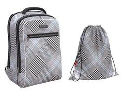 Ученический рюкзак ErichKrause® ErgoLine® Urban 18L Black&White  с наполнением 48670/1