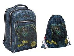 Ученический рюкзак ErichKrause® ErgoLine® Urban 18L Iguana с наполнением 48673/1