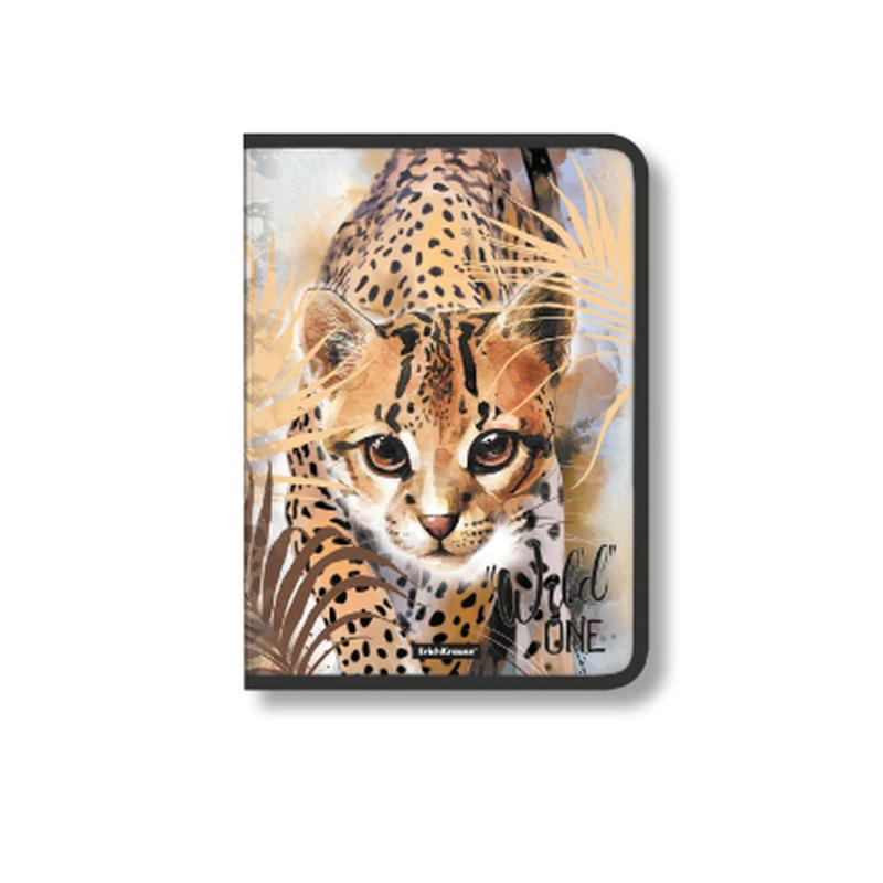 Папка для тетрадей на молнии пластиковая ErichKrause® Wild Cat, A4 48692