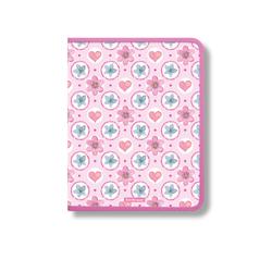 Папка для тетрадей на молнии пластиковая  ErichKrause® Pink Flowers, A4+ (в пакете по 4 шт.) 48694