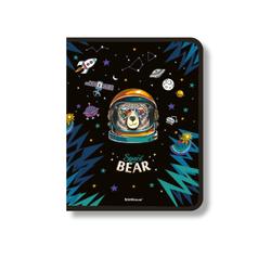 Папка для тетрадей на молнии пластиковая  ErichKrause® Space Bear, A4+ (в пакете по 4 шт.) 48696