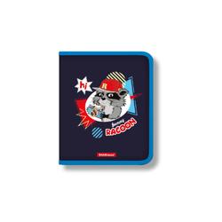 Папка для тетрадей на молнии пластиковая  ErichKrause® Funny Racoon, A5+ 48702