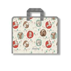 Папка на молнии пластиковая с ручками ErichKrause® Little Dogs, A4+ (в пакете по 4 шт.) 48703