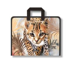 Папка на молнии пластиковая с ручками ErichKrause® Wild Cat, A4+  48704