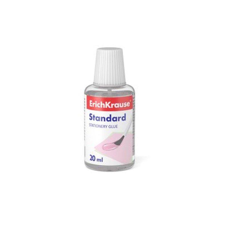 Клей канцелярский ErichKrause® Standard с кисточкой, 20мл 48706
