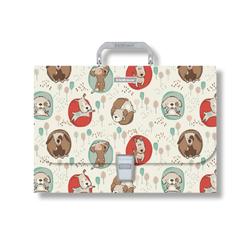 Портфель пластиковый ErichKrause® Little Dogs, A4 (в пакете по  1шт.) 48733