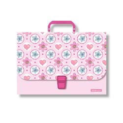 Портфель пластиковый ErichKrause® Pink Flowers, A4 48734
