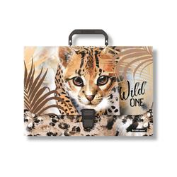 Портфель пластиковый ErichKrause® Wild Cat, A4 48735