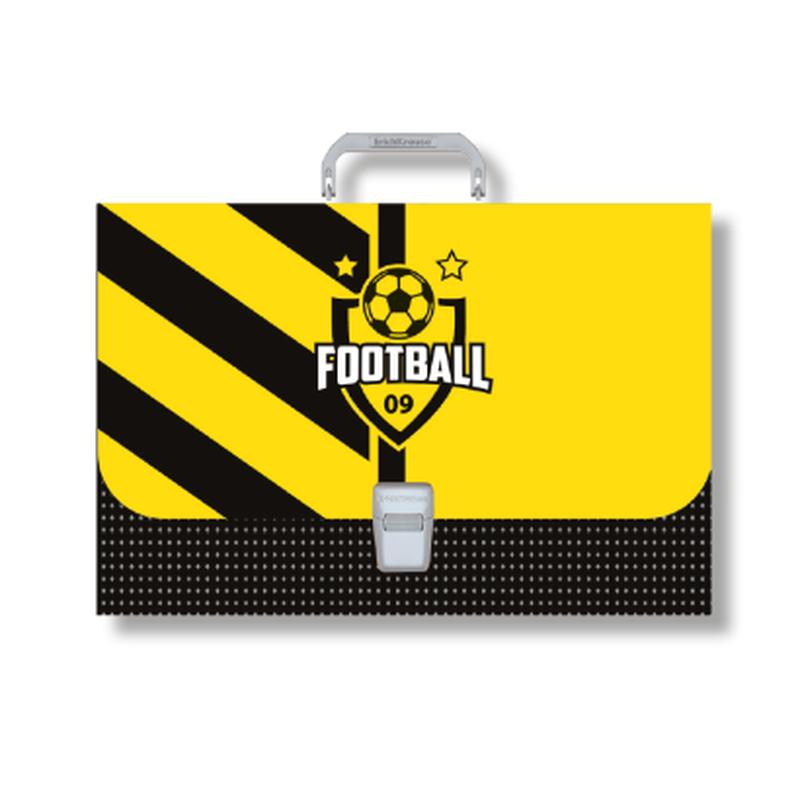 Портфель пластиковый ErichKrause® Football Time, FC А4+ 48738