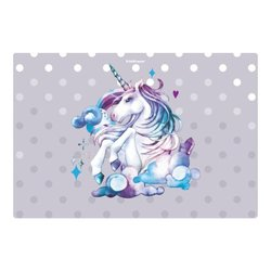 Подкладка настольная пластиковая ErichKrause® Dream Unicorn, А3 48741