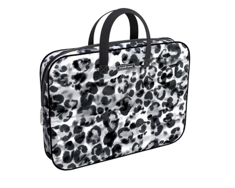 Папка текстильная на молнии ErichKrause® с ручками Grey Leopard, A4+ 49093