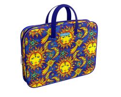 Папка текстильная на молнии ErichKrause® с ручками Art Sun, A4+ 49094