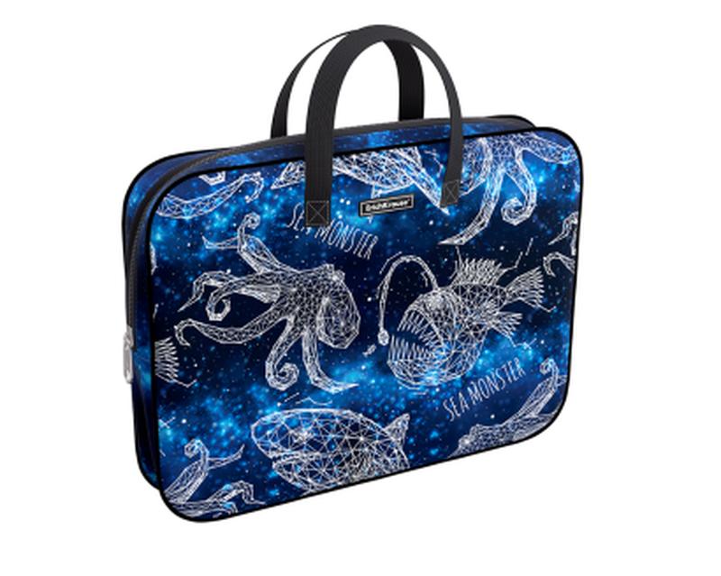 Папка текстильная на молнии ErichKrause® с ручками Magic Sea World, A4+ 49105