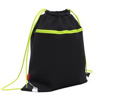 Мешок для обуви ErichKrause® с карманом на молнии 500х410мм Black&Yellow 49111