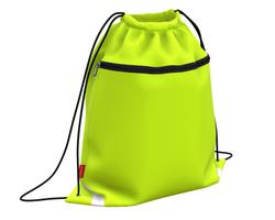 Мешок для обуви ErichKrause® с карманом на молнии 500х410мм Neon Yellow 49115