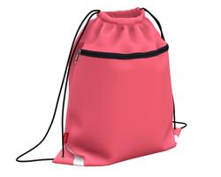 Мешок для обуви ErichKrause® с карманом на молнии 500х410мм Neon Coral 49116