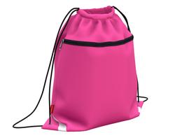 Мешок для обуви ErichKrause® с карманом на молнии 500х410мм Neon Pink 49122